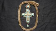 Наградной наперсный крест с украшениями. Россия,  Москва,  1950-1970е гг
