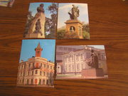 4 почтовых открытки с видами г. Ульяновска