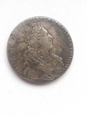 Монета Петр 1,  1 рубль. 1729 год