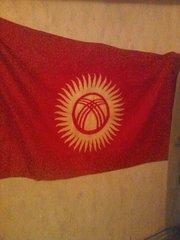Флаг Кыргызстана с историей.